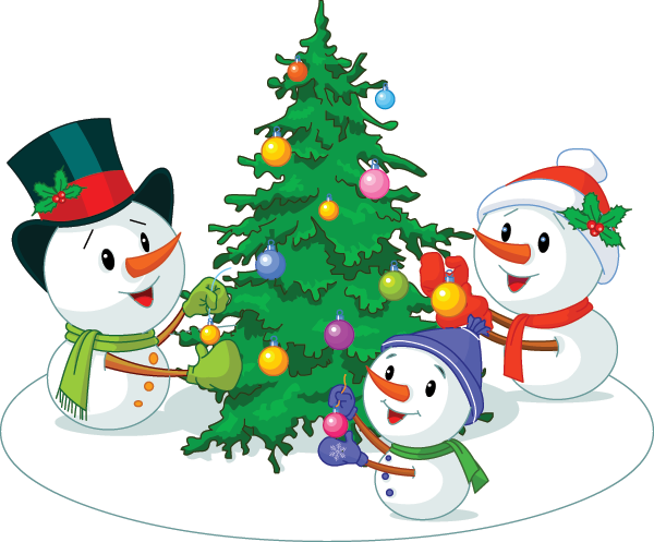 Snowman Family Image
