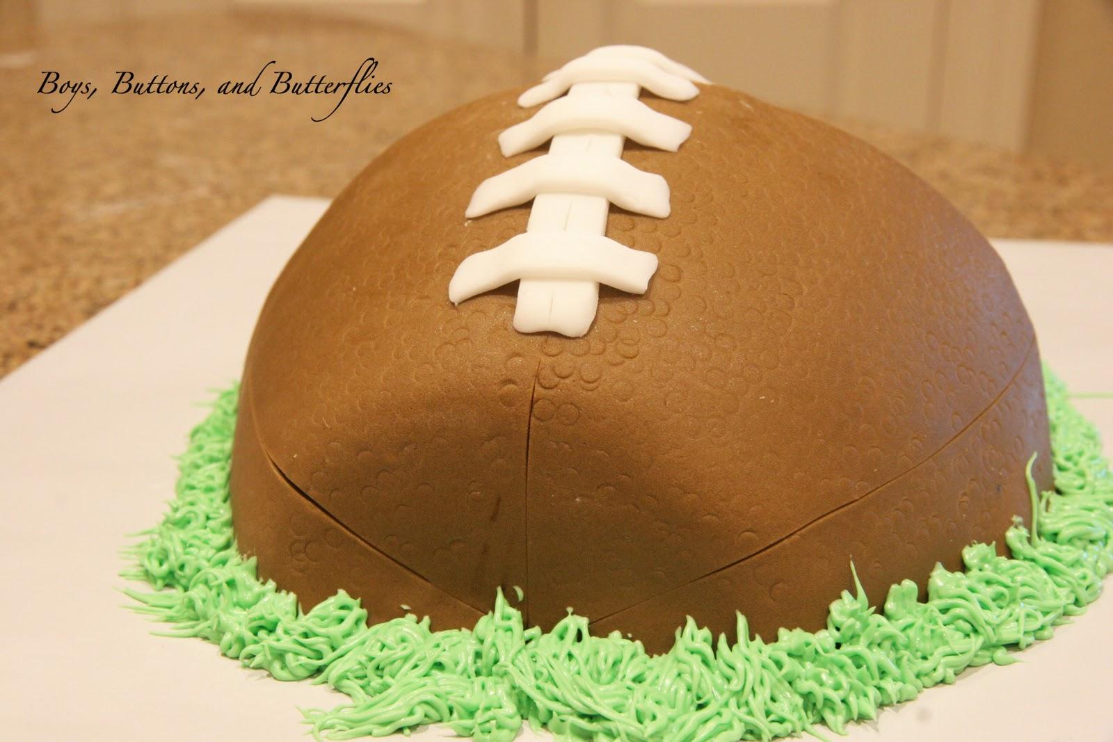 how to make a sherrin football cake