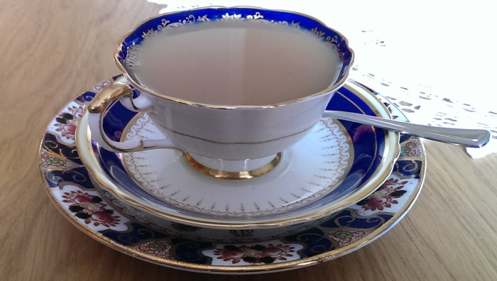 tea with vintage china