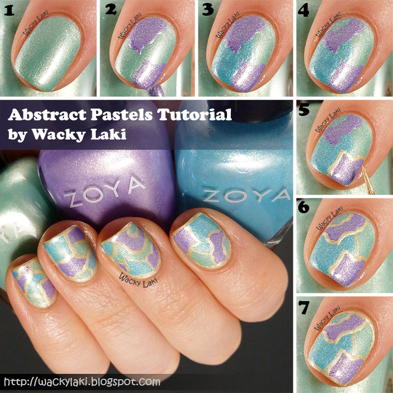 Wacky Laki: Tutorial: Abstract Stained Glass Nail Art