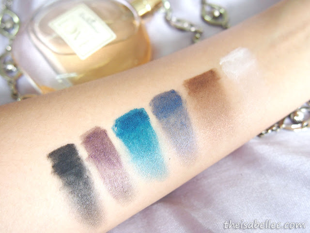 Elianto Long Wear Eyeshadow Stick swatches and smudged