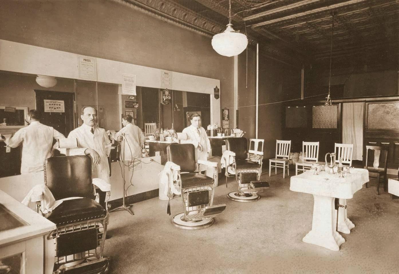 Barber Shop Chicago : POSTCARD - CHICAGO - BARBER SHOP INTERIOR - 3057 W HARRISON - BARBERS ...