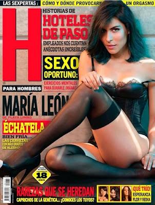 FOTOS: Maria Leon vocalista Playa Limbo Revista H para hombres Agosto 2013