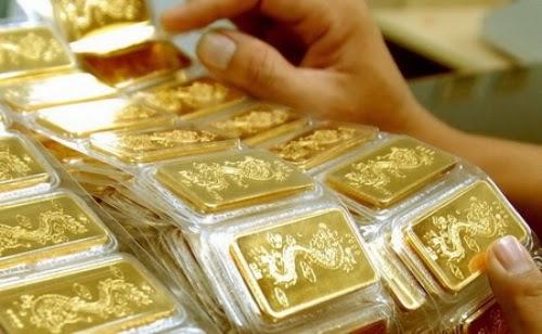 Đầu tuần vàng thế giới tiếp tục bật tăng