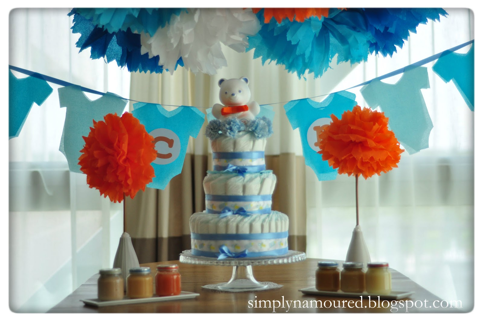Simply n amoured diy baby shower for Baby shower decoration ideas homemade