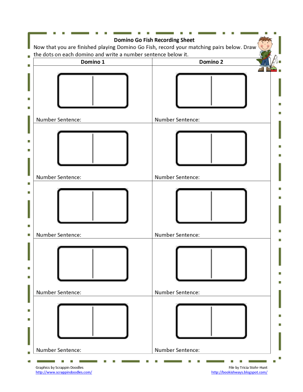 Bookish Ways in Math and Science April 2012 – Dominoes Math Worksheets