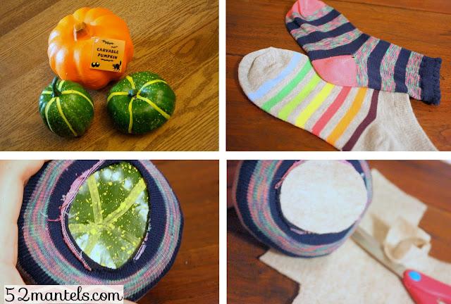 Sock Pumpkin Crafts