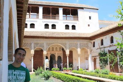 Acequia courtyard of El Generalife in Granada