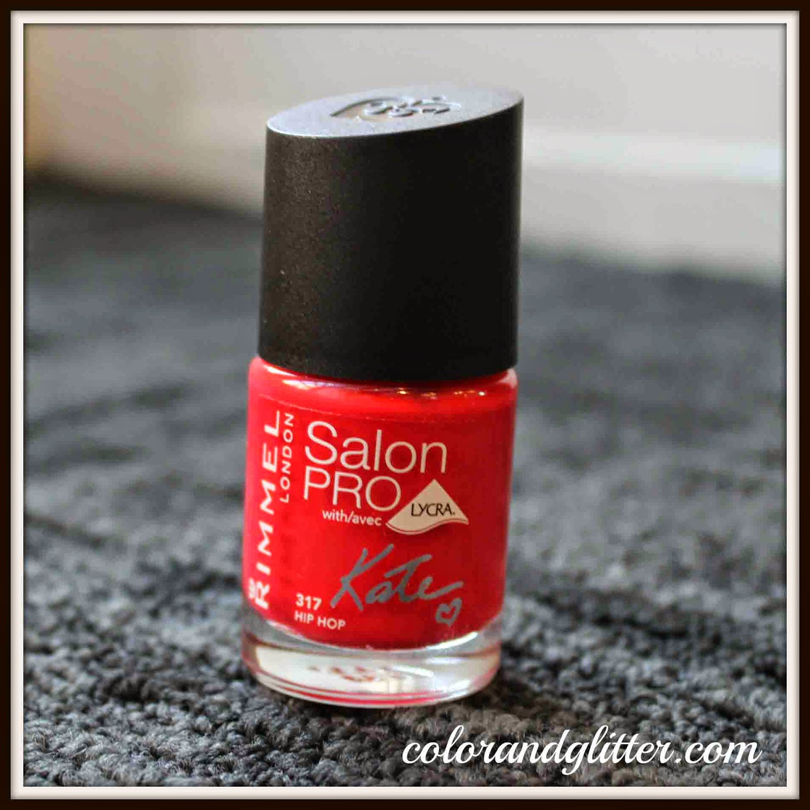 Rimmel Salon Pro Nail Color with Lycra by Kate in Hip Hop || Review and Swatches