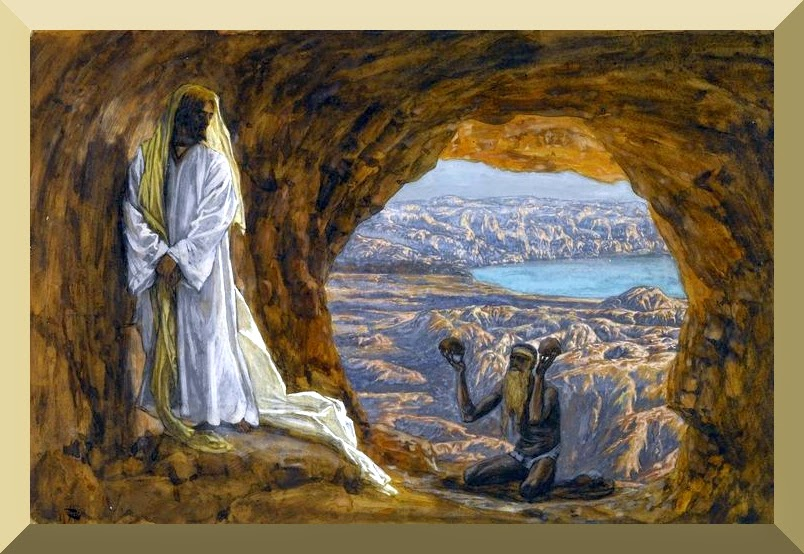 """""""Jesus Tempted in the Wilderness"""" -- by James Tissot"""