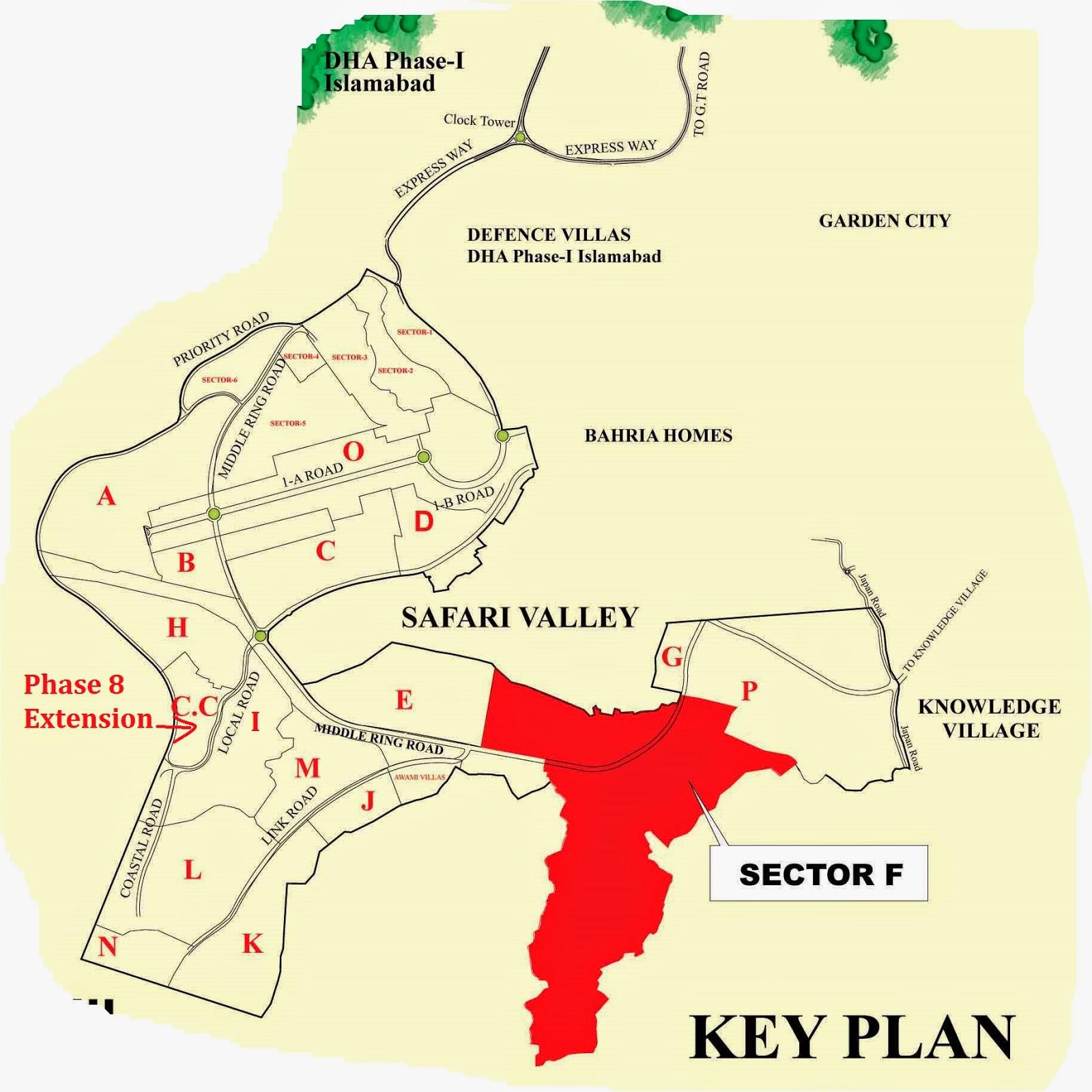 Rawalpindi Master Plan i Block in Master Plan Map