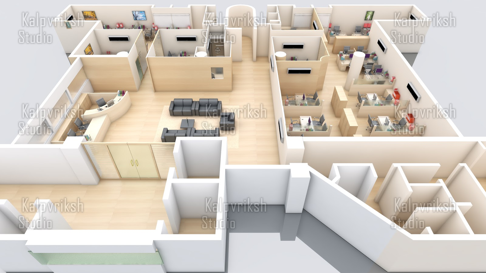 Office interior kalpvriksh studio for Office interior projects