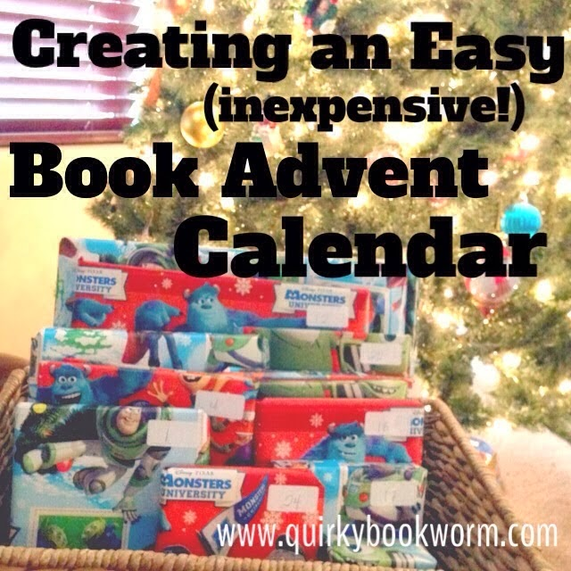 Bookish Advent Options: Creating an Easy and Inexpensive Book Advent Calendar for Christmas.