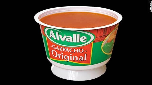 Tomato Soup / Sup Tomat Sajian Menu McDonalds Spanyol