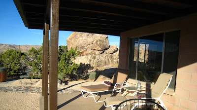 Rock Haven Cabin patio Joshua Tree National Park California