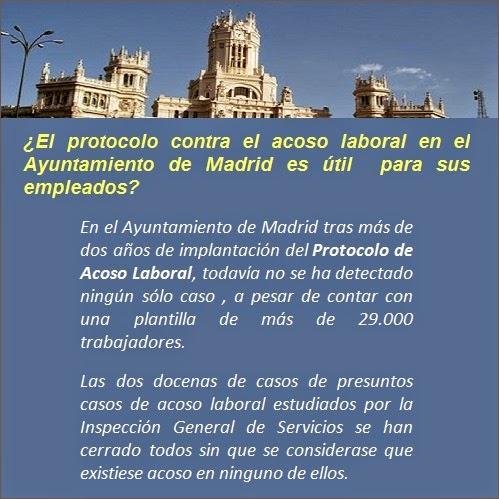 El protocolo contra el acoso laboral en el Ayuntamiento de Madrid es útil  para sus empleados