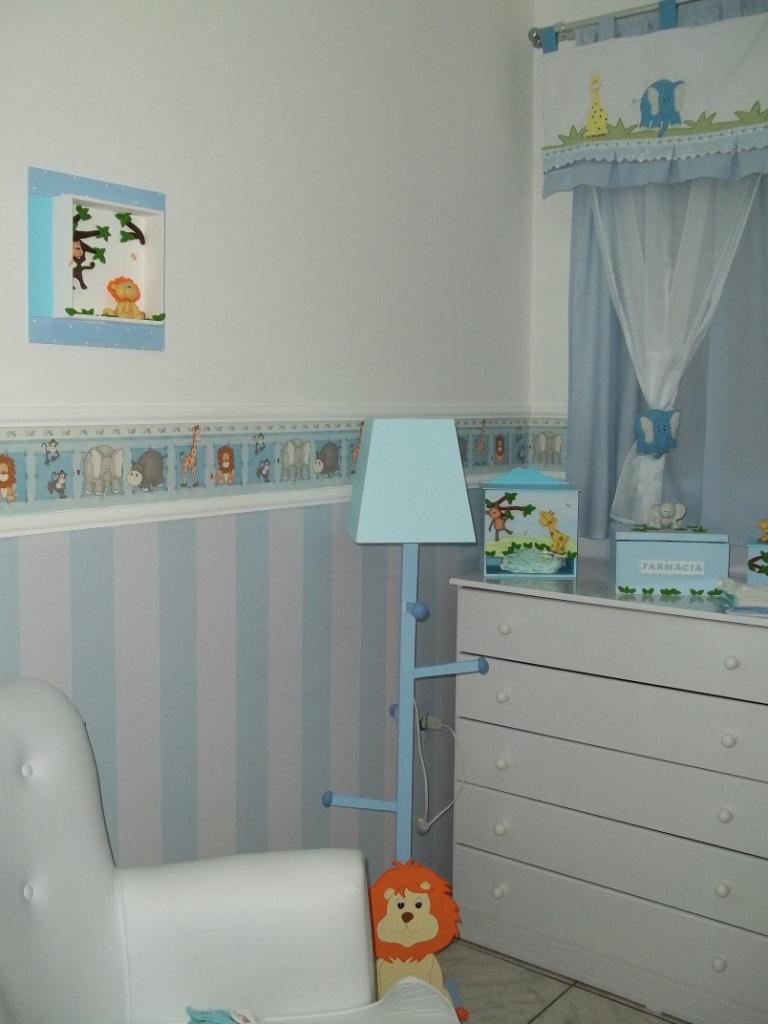 20170113184552_decoracao Quarto De Bebe Safari Azul Beigit Com ~ Decoração De Quarto Criativa E Decoração Quarto De Bebe