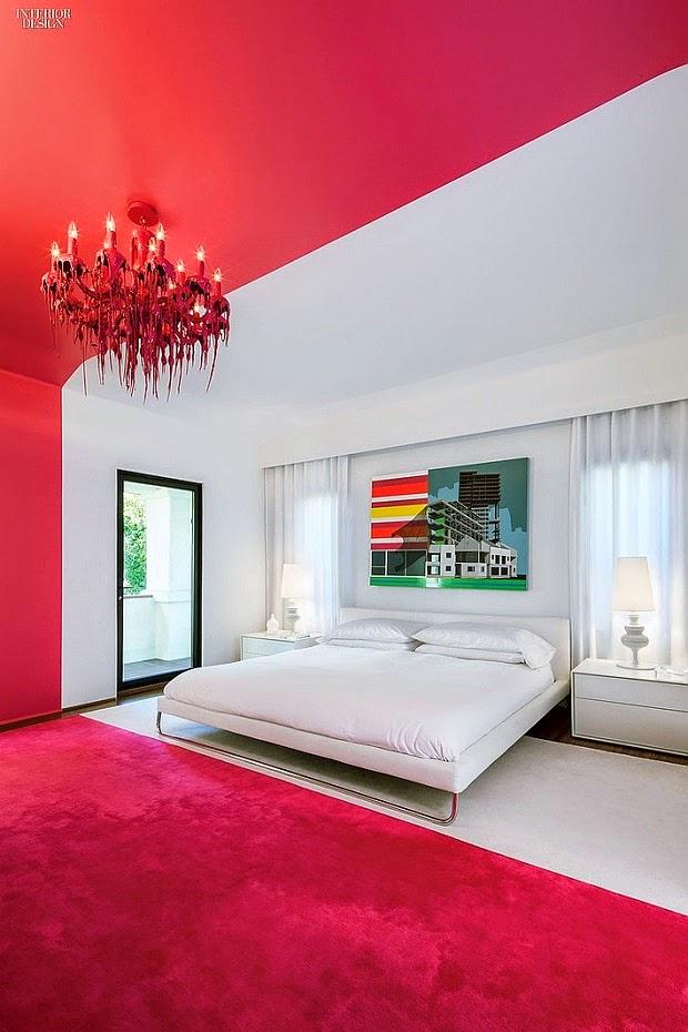 decorar pared con pintura color rosa fucsia