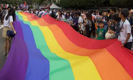 TAIWAN'S 80,000 GAY PRIDE MARCHERS ...