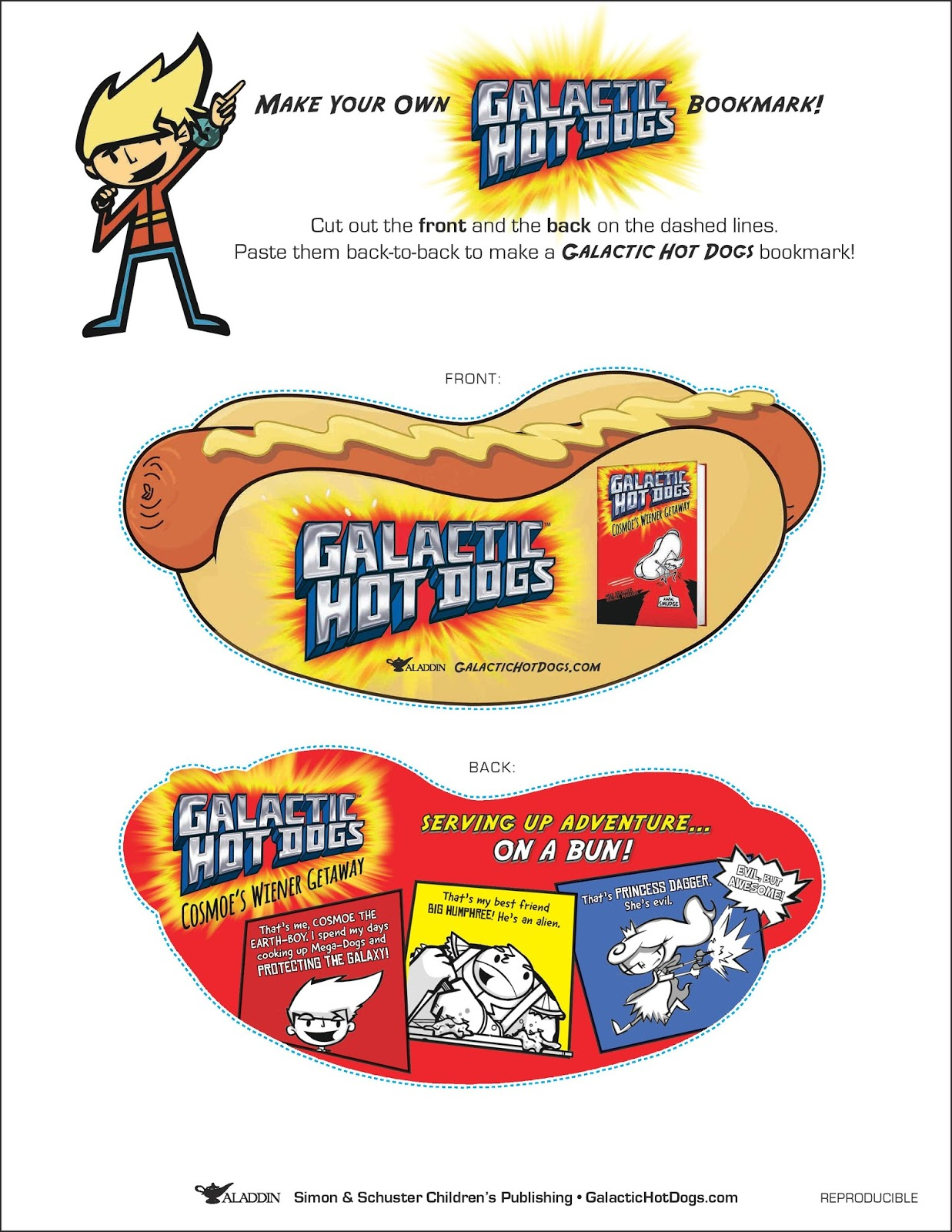 Galactic Hot Dogs Book