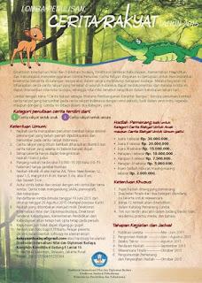Info Lomba Menulis Cerita Rakyat Tahun 2015
