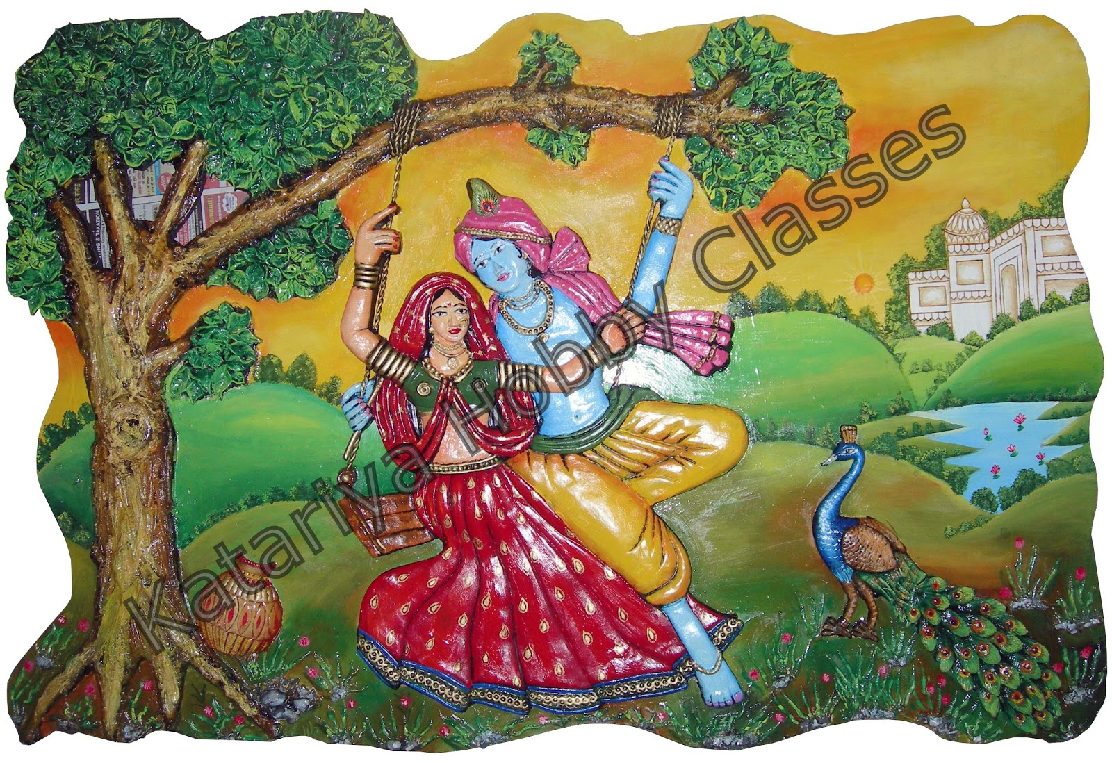 Art carft and hobby july 2011 for Mural radha krishna
