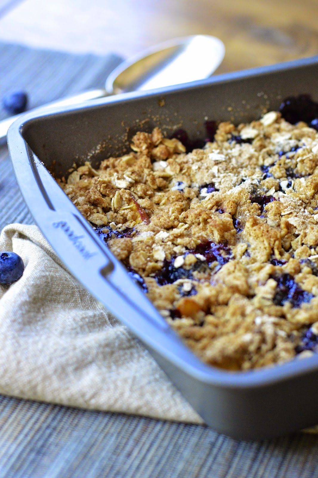 gluten free blueberry peach crisp gluten free recipes gluten free