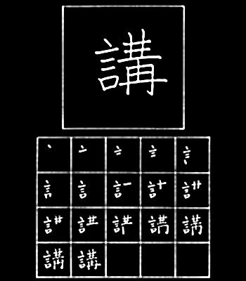 kanji ceramah, teguran