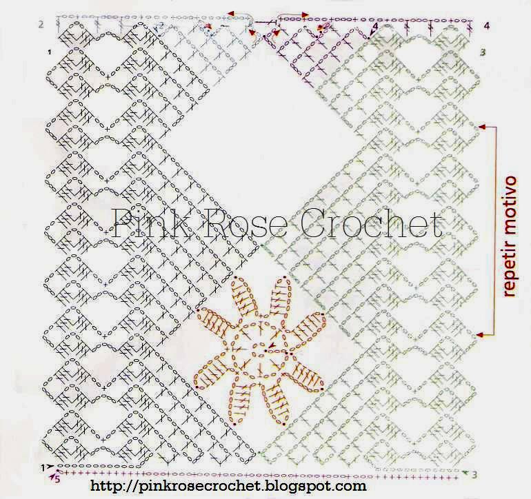 PINK ROSE CROCHET: Barrados de Crochê Rendados em Branco e Bege