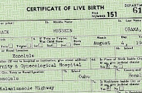 Barry's birth certificate