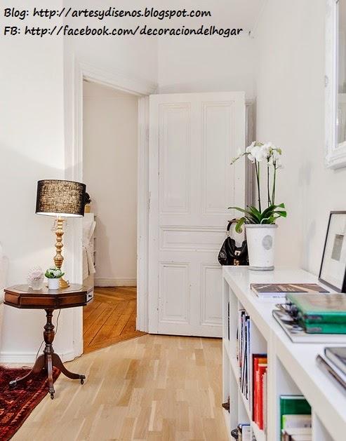 Sala Elegante de Color Blanco by artesydisenos.blogspot.com