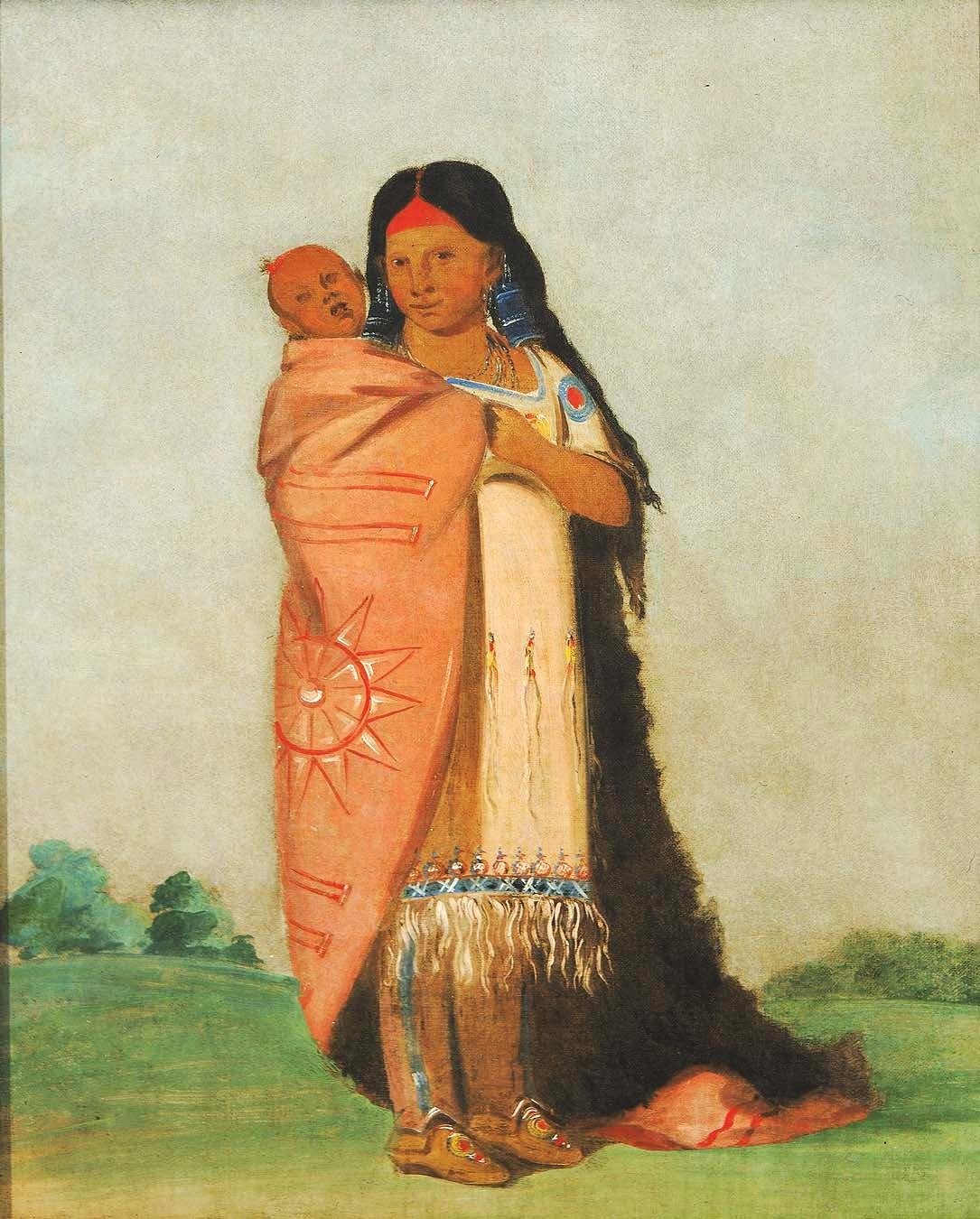 http://2.bp.blogspot.com/-I0atPKKuEJk/UKj7_ROKLqI/AAAAAAABOb8/x5wowMA06fU/s1600/George+Catlin+(American+artist,+1796-1872)+Tsee-mo%C3%BAnt,+Great+Wonder,+Carrying+Her+Baby+in+Her+Robe.jpg