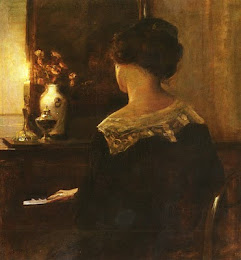 Carl Vilhelm Holsoe (1863-1935) - A lady playing the piano