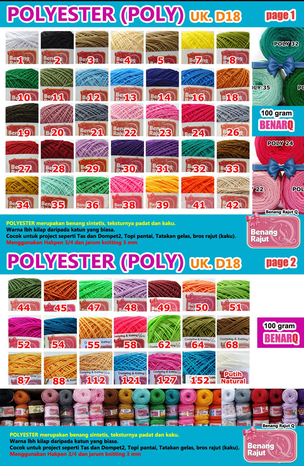 POLYSTER POLOS D 18