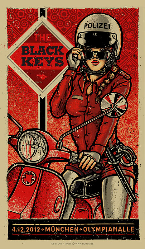 INSIDE THE ROCK POSTER FRAME BLOG: The Black Keys Munich u0026 Dusseldorf ...