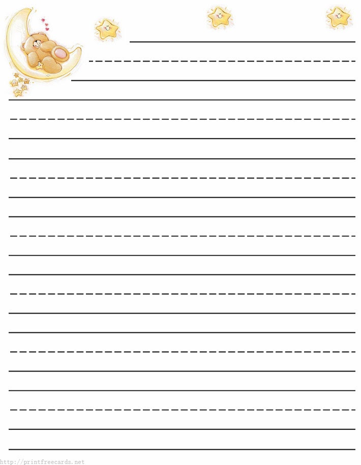 kids lined writing paper