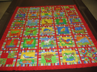Animal Alphabet Quilt ~ Top and Back Finished!