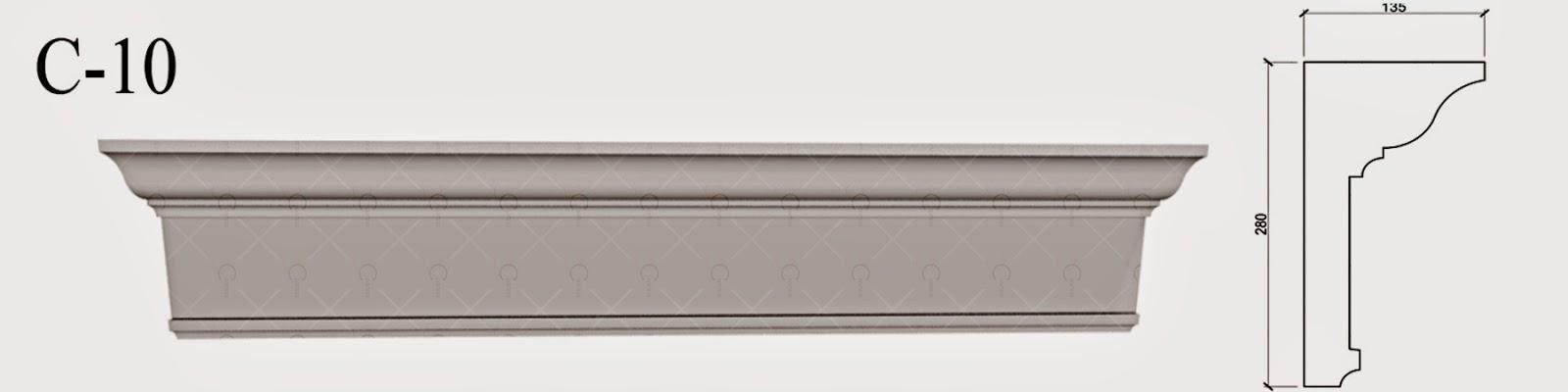 Cornisa Polistiren - Baghete Polistiren - profile decorative penrtu fatade de case, pret