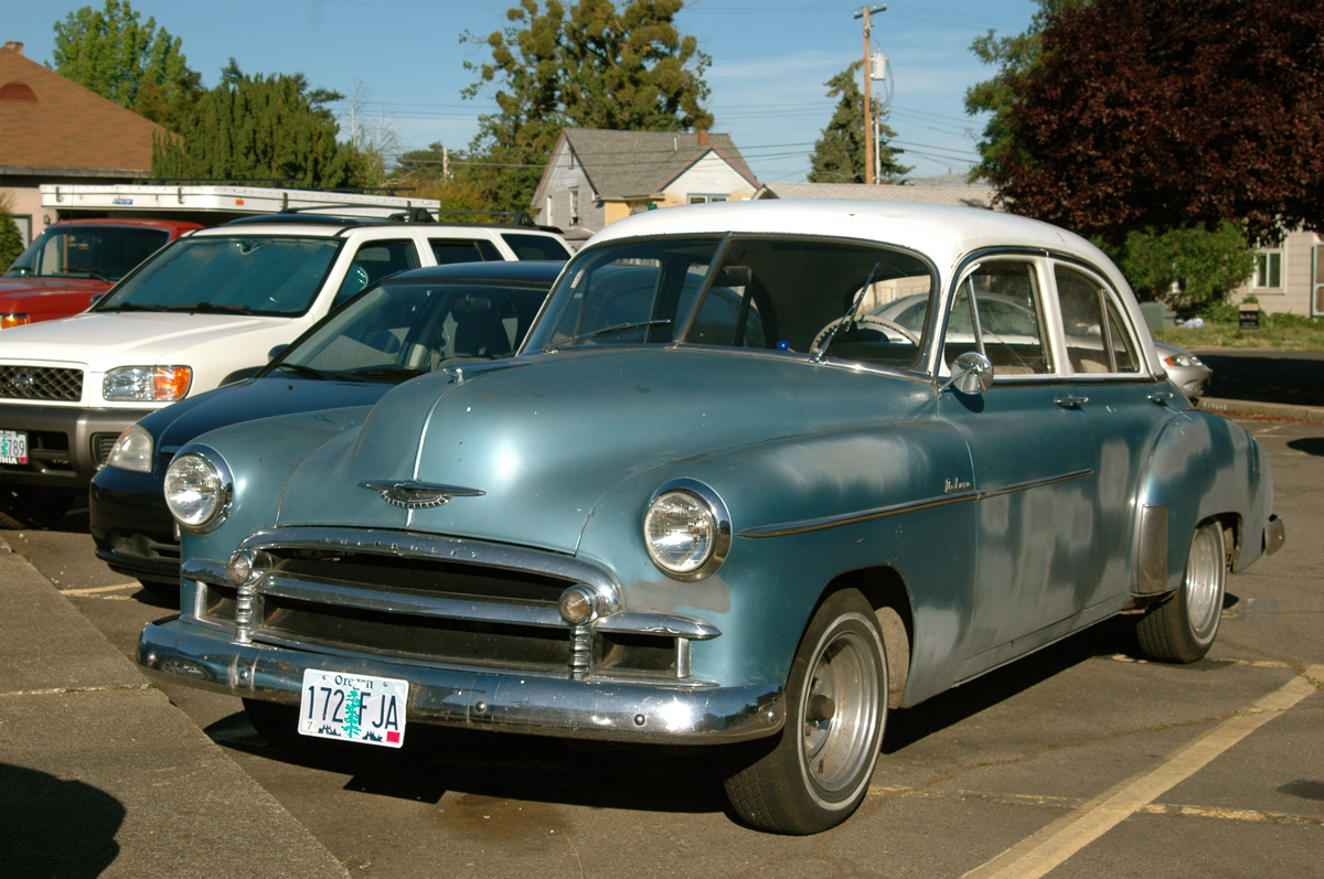 Old parked cars 1950 chevrolet deluxe for 1950 chevy 2 door sedan