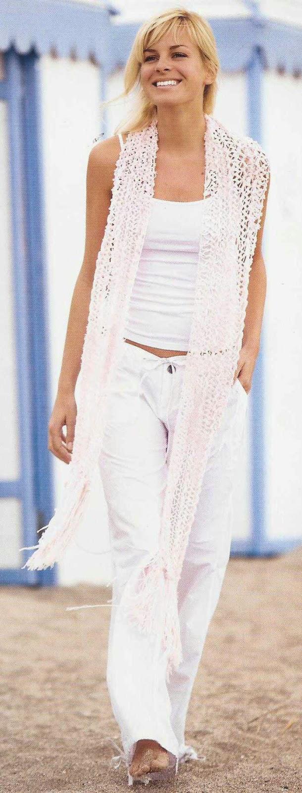 #69 Chal o Bufanda a Crochet