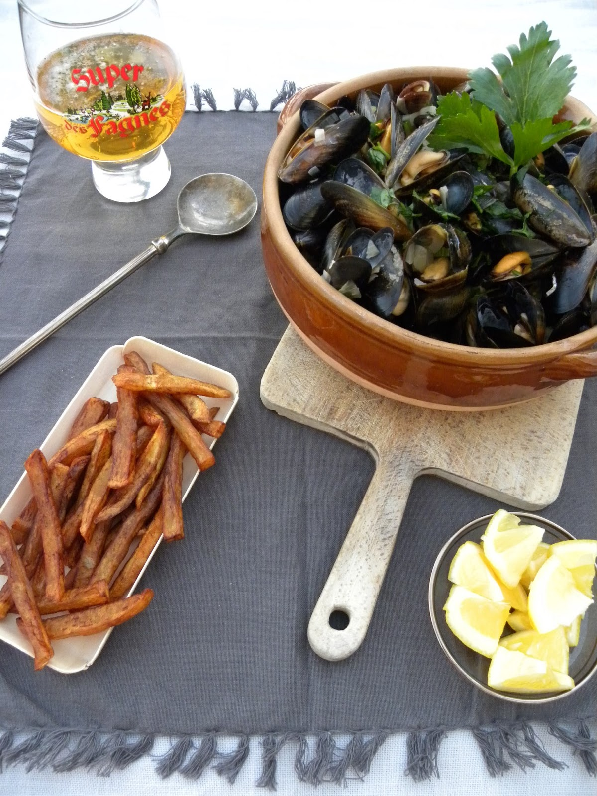 Vadrouilles gourmandes moules marini res fa on braderie for Cuisine 0 gachis
