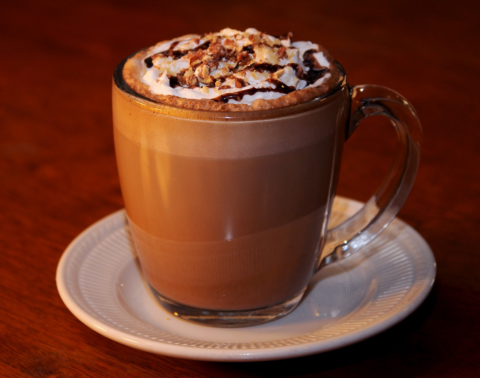 the toffee-nut mocha. A delicious combination of chocolate, toffee ...