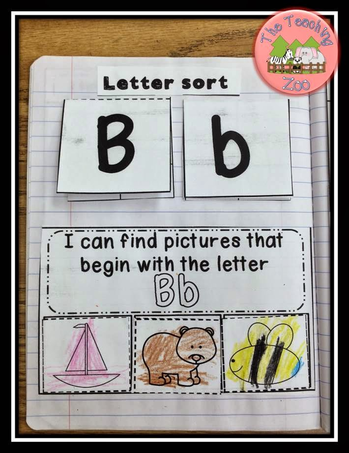 The teaching zoo abc interactive alphabet notebook for Alphabet letter notebook