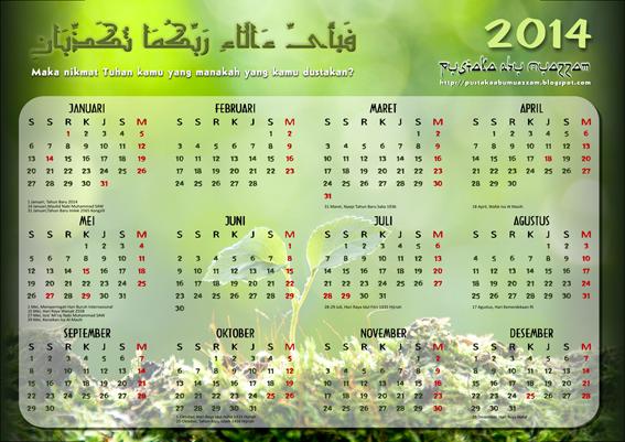 Kalender Tahun 2014 Masehi