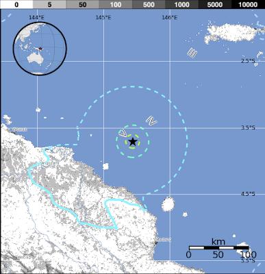 Epicentro sismo 5,9 grados, papúa Nueva Guinea, 29 de Noviembre 2012