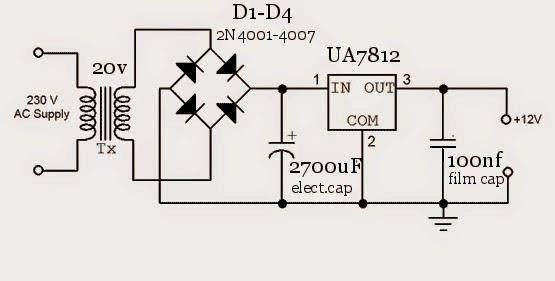 amateur  1amp diy power supply