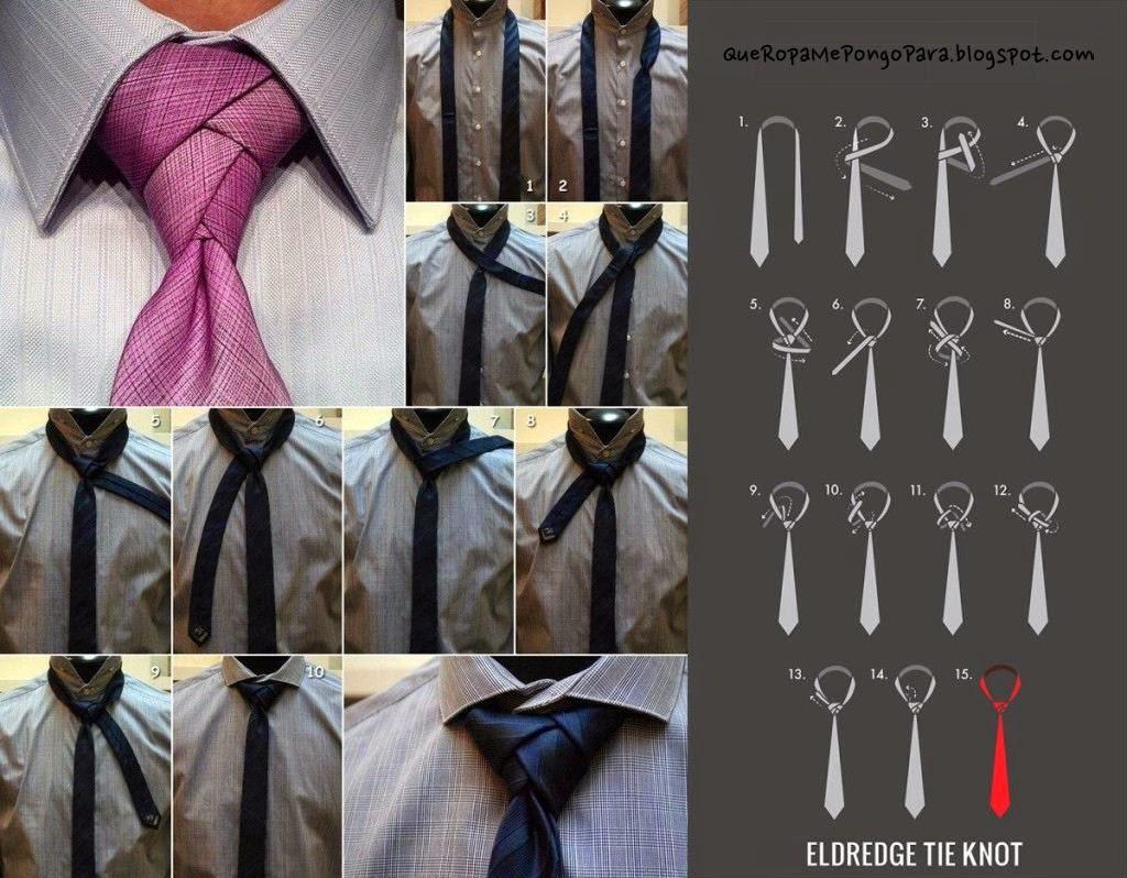 MODA - COMO HACER UN NUDO DE CORBATA ELDREDGE - Eldredge tie knot