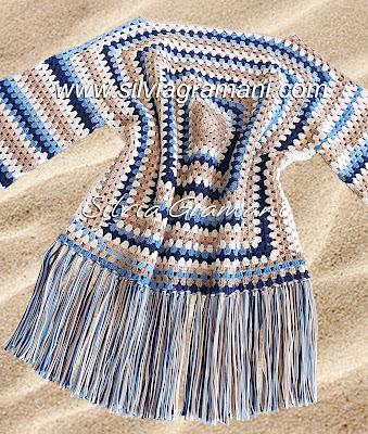 Blusa em crochê, estilo boho chic, blusa de croche colorida