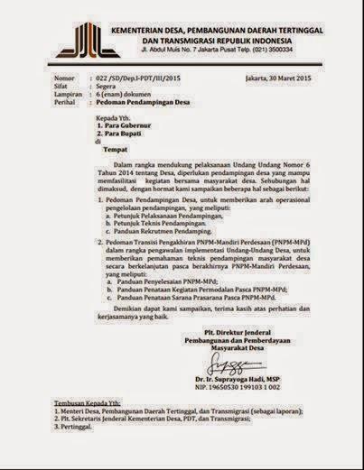 Pengumuman dan Panduan Rekrutmen Pendamping Dana Desa 2015 dari Kementerian Desa, PDT dan Transmigrasi