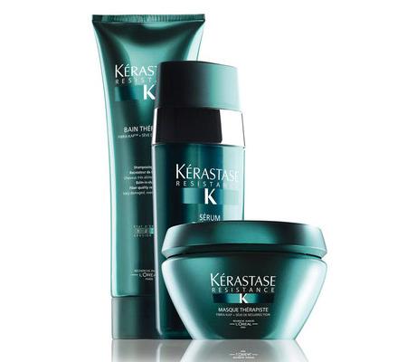 Kérastase Résistance Thérapist L'Oreal shampoo máscara e sérum tratamento de beleza para cabelos danificados